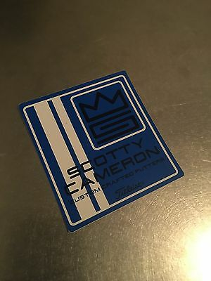New Scotty Cameron Blue and White Custom Crafted Putters Decal Sticker Rare