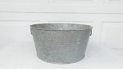 Galvanized Tub Wash Tub #0 Bucket Metal Handle Galvanized Metal Mop Bucket