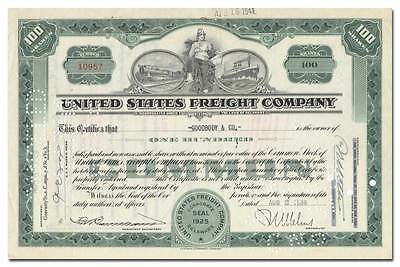 United States Freight Company Stock Certificate