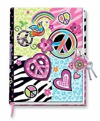 Hot Focus Peace Diary with Lock and Keys