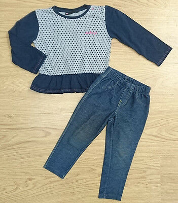 Mckenzie Mini Club Girls Bundle Age 2-3 Years Navy Top Jeggings