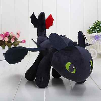 "New Plush Doll 13"" 33cm Toothless Dragon Night Fury Soft Plush Dolls Kids Toy"
