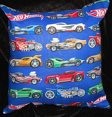 New Handmade Hot Wheels Cars Blue Toddler/cuddle/car /bed  Pillow