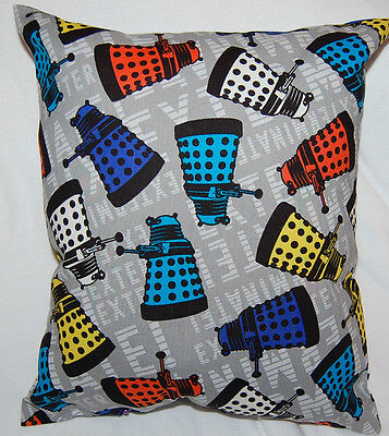 New Handmade Bbc Doctor Who Dalek Exterminate Travel/ Throw Pillow