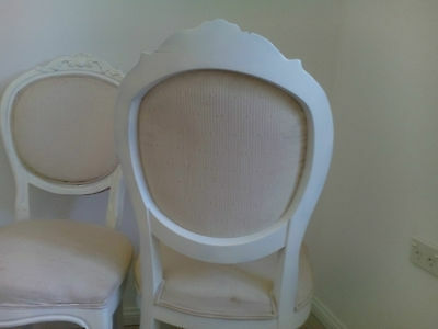 French Provincial Louis Style Dining Chairs Set of 4