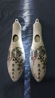 A pair of Chinese Famille Rose Wall bottle