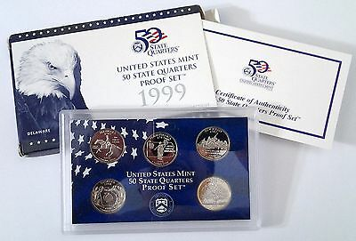 1999-S State Quarter Proof Set - With Box & COA
