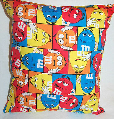 New Handmade M & M Candy  Car/ Travel/toddler/daycare Pillow