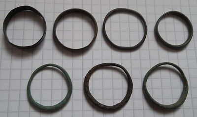various bronze rings 7 VF+