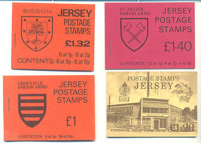 Jersey-4 Different booklets mnh