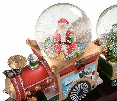 Christmas Snow Globe Train with 3-Musical Animated Decorations Indoor Xmas 34cm