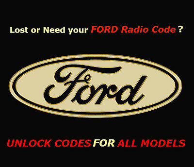 Ford V Series Sony, Visteon, C-Max And Others Radio Code | Fast Service