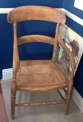Edwardian Bergere Bedroom Chair
