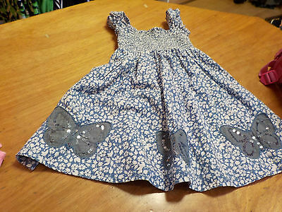 Bluezoo Blue Dress 2-3 Years