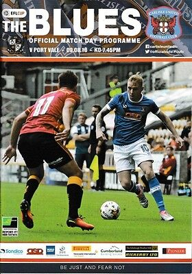 2016/17 - CARLISLE UNITED v PORT VALE (LEAGUE CUP - 9th August 2016)