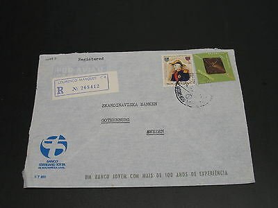 Mozambique 1971 registered airmail cover to Sweden *14997
