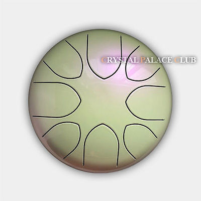 """8"""" Steel Tongue Drum//Handpan (Bag included)-C Major Natural Scale Pearl Color"""