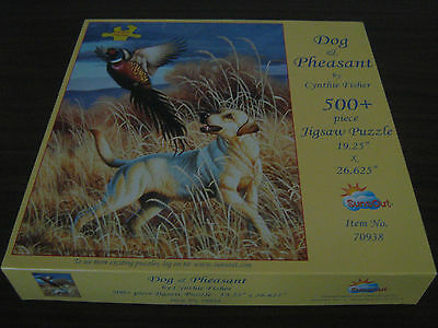 "500 piece SunsOut Jigsaw with larger pieces - ""Dog and Pheasant"""