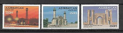 Archtecture Azerbaijan Aserbaidschan 1997 MNH** Mi.395-397 Mosques
