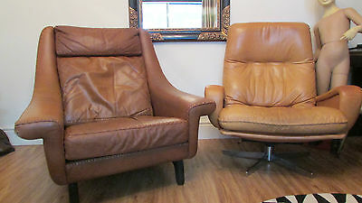 Danish Matador leather chair  by Aage Christiansen  1961 Vintage Retro