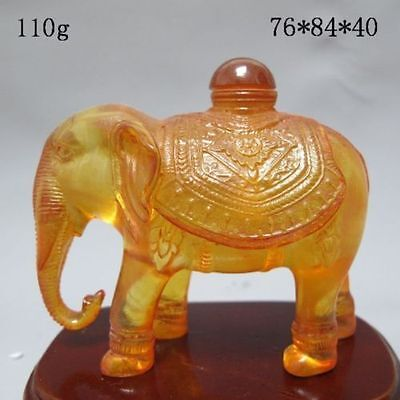 Chinese Hand-carved Elephant Snuff Bottle
