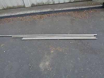 stainless steel pipie tubing aprox 32mm dia x4 lengths