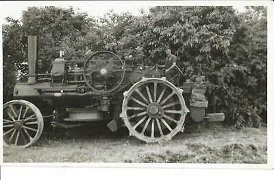 Traction Engine, Fowler, At Pulborough, Sussex, 1954, Plain Back Photo Postcard