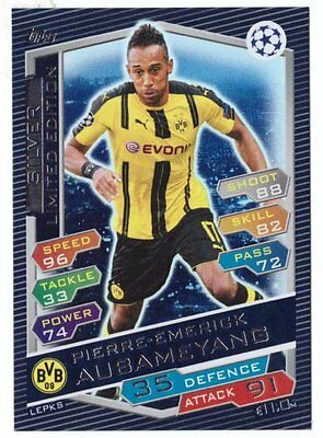 Limited Aubameyang Silver Topps Champions League 2016 2017