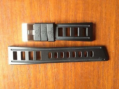 Genuine Omega Rubber Divers Watch Strap ISOfrane Ploprof  19mm / 24mm