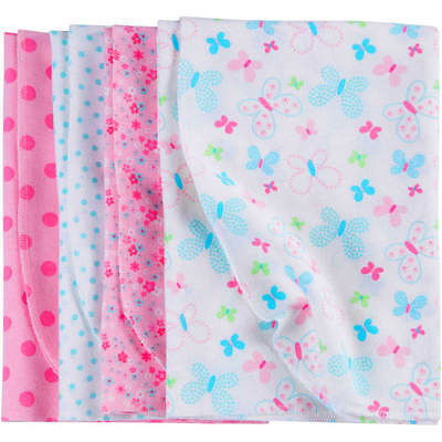 BLANKET Newborn Baby Girl Flannel Receiving Blankets,4-Pack perfect swaddling