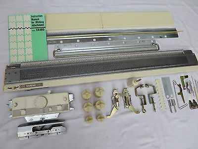 Brother Knitting Machine Ribber Attachment Accessory KR850 Manual Complete