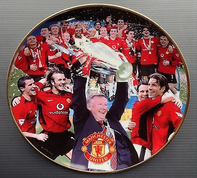 Man Utd 2003 Premier League Champions Danbury Mint Plate Manchester United COA