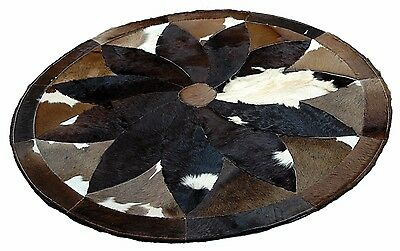 NEW Natural COWHIDE PATCHWORK RUG Area Rugs Cow Skin Hide Carpet Leather MB-9