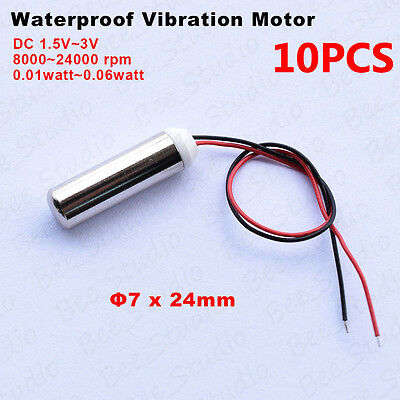 10pcs DC 1.5V-3V Wasserproof Mini vibration motor encapsulated resistantvibrator