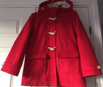 Peter Storm Girls Red Duffle Coat Age 13 Years