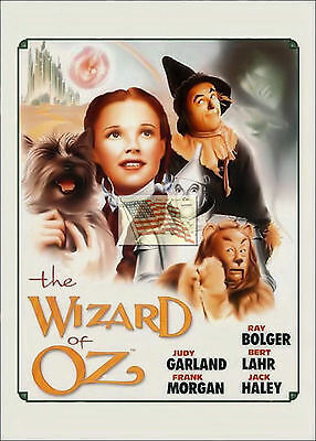 REPRINT PICTURE of older movie sign THE WIZARD OF OZ judy garland ray bert 5x7