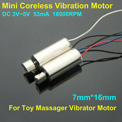 2PCS 7mm*16mm DC3V~5V 18000RPM Mini Coreless Vibration Motor DC Micro Vibrator