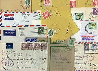 Australia Forces Mixed Lot of Covers, Postmarks on Piece etc. Air, Navy, Army
