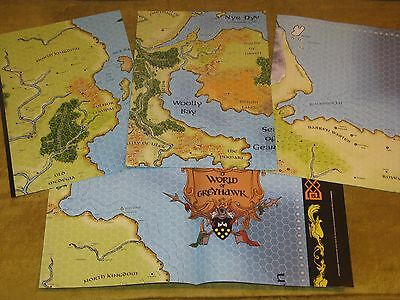 Greyhawk map set of 4 NEW 2005 Dungeon Magazine Dungeons & Dragons rpg D&D