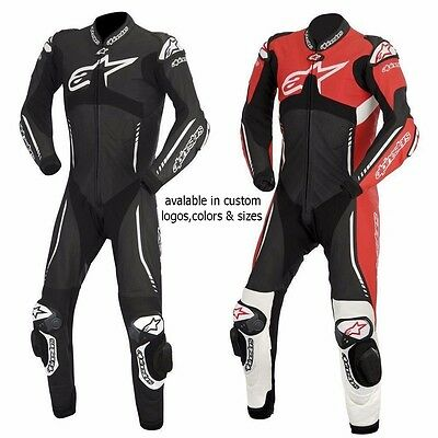 Racing Motorbike Leather Suit Mens Motorcycle Leather Jacket Trouser One-Piece