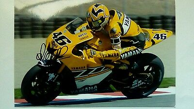 Valentino Rossi hand signed photograph Kenny Roberts colours 12 x 8