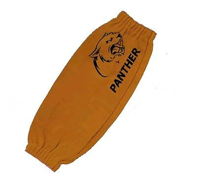 18'' Pair of Panther leather protective welding sleeves with elasticated wrists