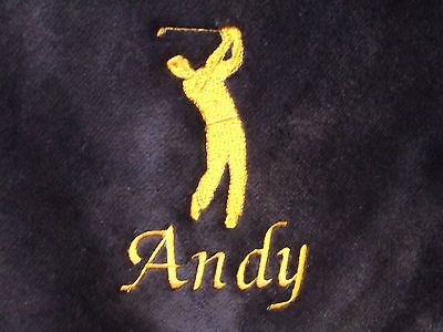 Tri Fold Personalised Golf Towel Ideal for Christmas Birthday gift