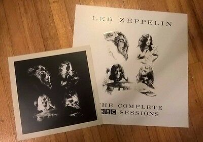 Led Zeppelin The BBC Sessions Embossed Promo Design and Promo Photo Card