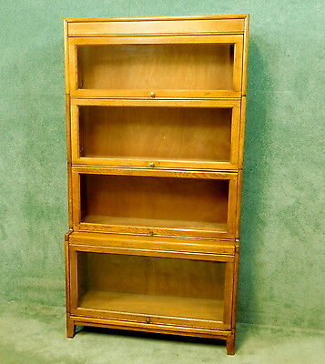 Oak 4 Height Stacking Bookcase - Lawyers Barrister B/case -Globe Wernicke  Style