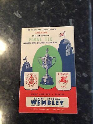 Amateur Cup Final 1951 Played At Wembley Bishop Auckland V Pegasus