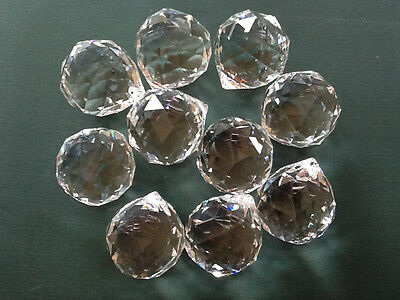 10 Pieces 40Mm Lead Crystal Balls