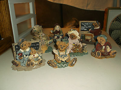 Lot Of 7 Boyds Bears&Friends,Bearstone Collection,Bear Figurines