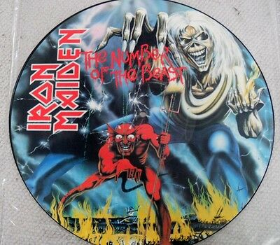 IRON MAIDEN: THE NUMBER OF THE BEAST. PICTURE DISC. 33rpm 1982