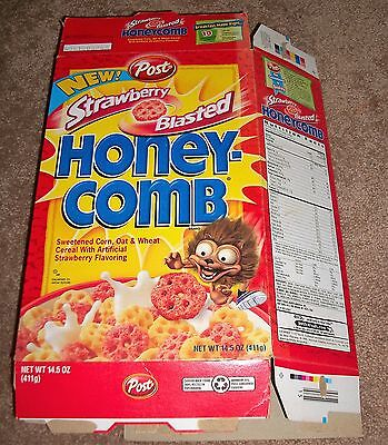 2002 Post New! Strawberry Blasted Honey-Comb Cereal Box Large Box Displays C@@l